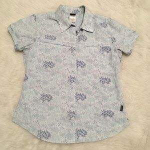 Patagonia Short Sleeve Floral Button Down Shirt
